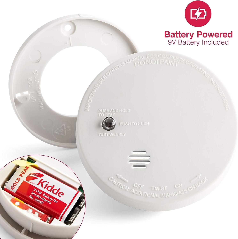 Kidde Model I9040 Battery Operated Ionization Sensor Compact Smoke Detector Alarm Amazon Com