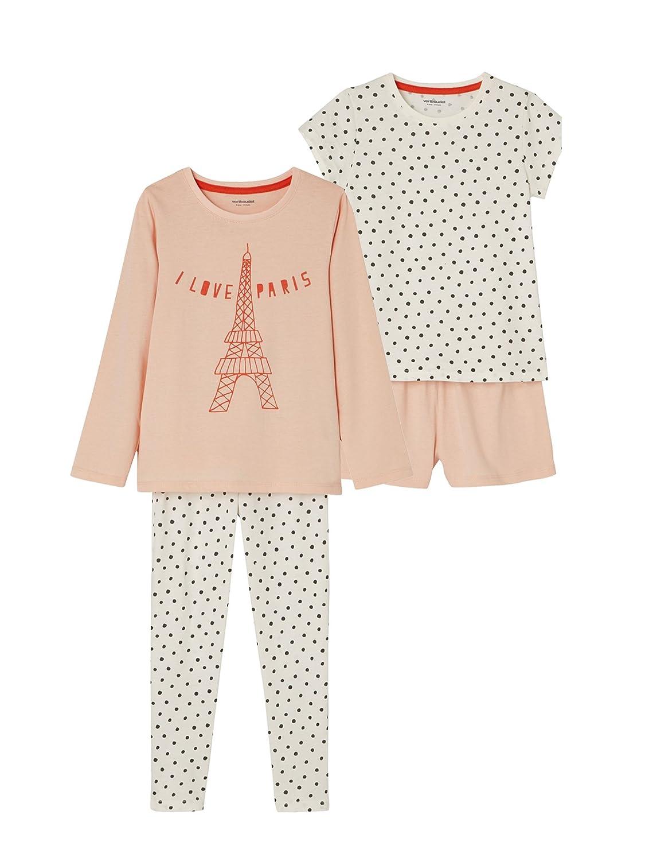 VERTBAUDET Lote pijama con short + pijama niña combinables ROSA CLARO BICOLOR/MULTICOLOR 6A: Amazon.es: Ropa y accesorios