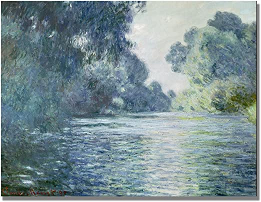 Claude Monet Banks of the Seine Vetheuil Art Print Poster 12x18 inch