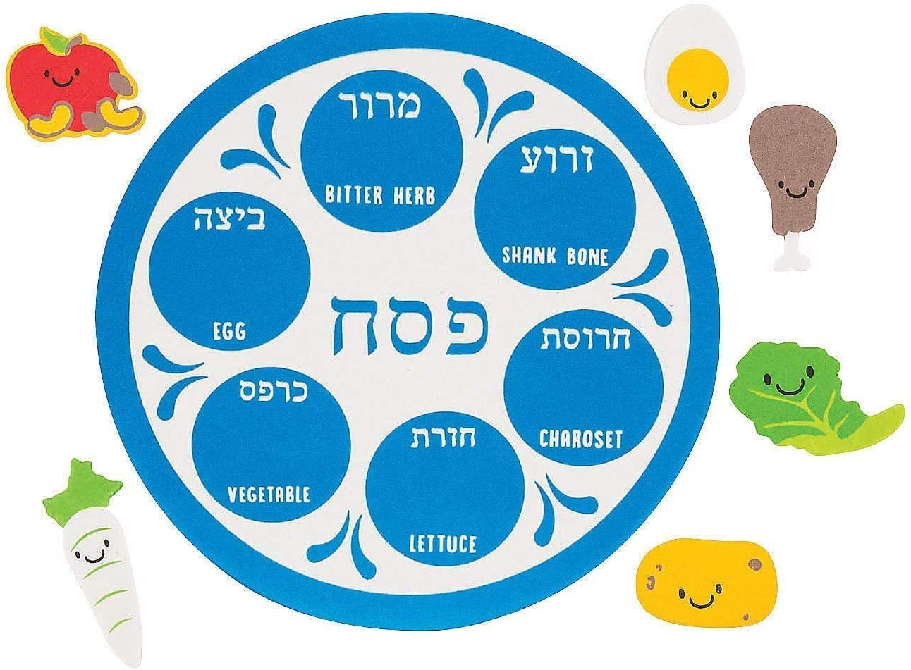 Passover Seder Plate Foam Playset (6-Pack)