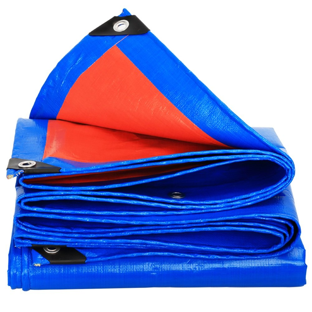 CHAOXIANG 厚い 折りたたみ可能 両面 防水 耐寒性 シェード 日焼け止め 耐摩耗性 耐食性 防風 防塵の PE 青、 180g/m 2、 厚さ 0.35mm、 23サイズ (色 : 青, サイズ さいず : 10×12m) B07DC63GVJ  青 10×12m