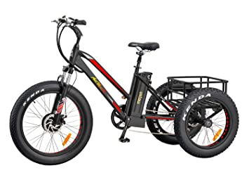 Addmotor Electric Tricycle 24 Inch Fat Tire Electric
