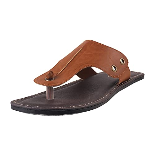 927f1cea1eba8 Metro Men s Tan Thong Sandals-5 UK India (39 EU) (16-8030-23)  Buy Online  at Low Prices in India - Amazon.in
