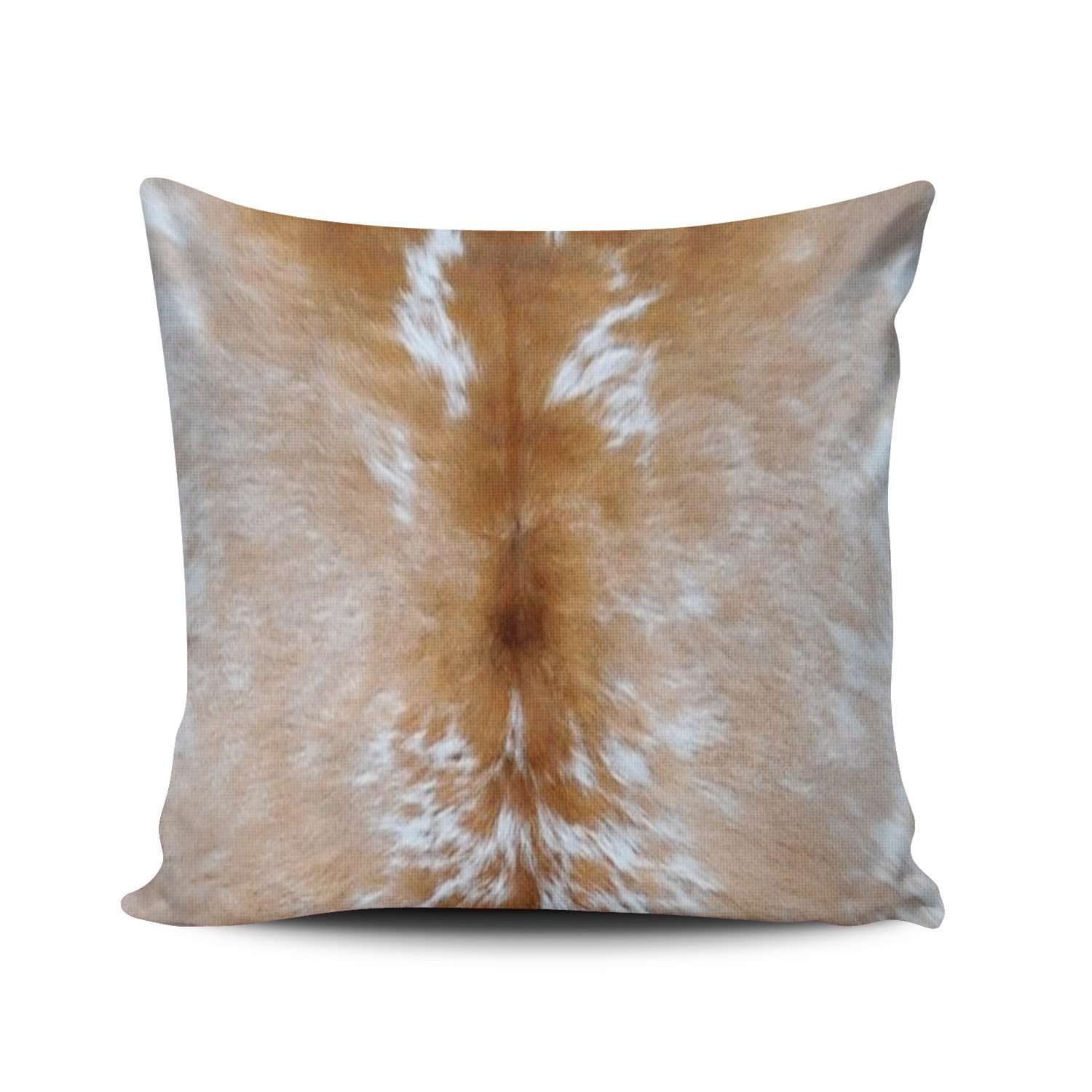 KEIBIKE Pillow Case Animal Hide Skin Spotted Brown White Cow Personalized Pillowcases Cute Decorative Throw Pillow Covers Cases Euro Square 26x26 Inches by KEIBIKE