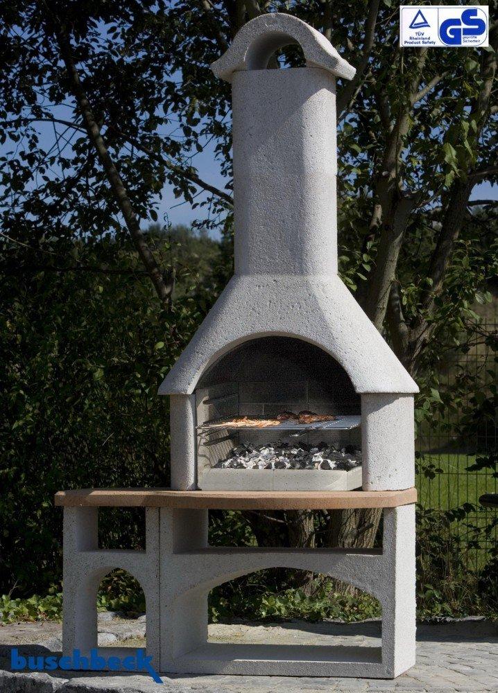 Buschbeck Gartengrillkamin Bozen mit integrierten Tisch
