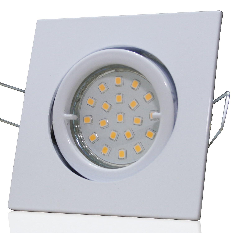 4 Stück SMD LED Einbauleuchte Luisa 230 Volt 7 Watt Schwenkbar Weiß Neutralweiß