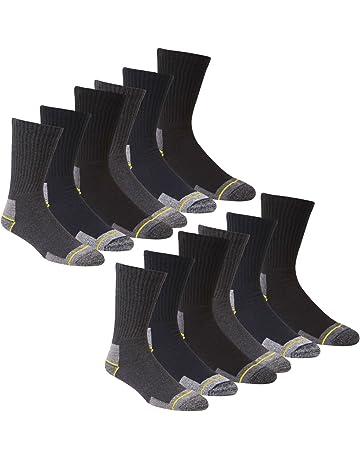 Calcetines de trabajo para hombre trabajo 12 pares calcetines para botas Talla 12 – 14 talón