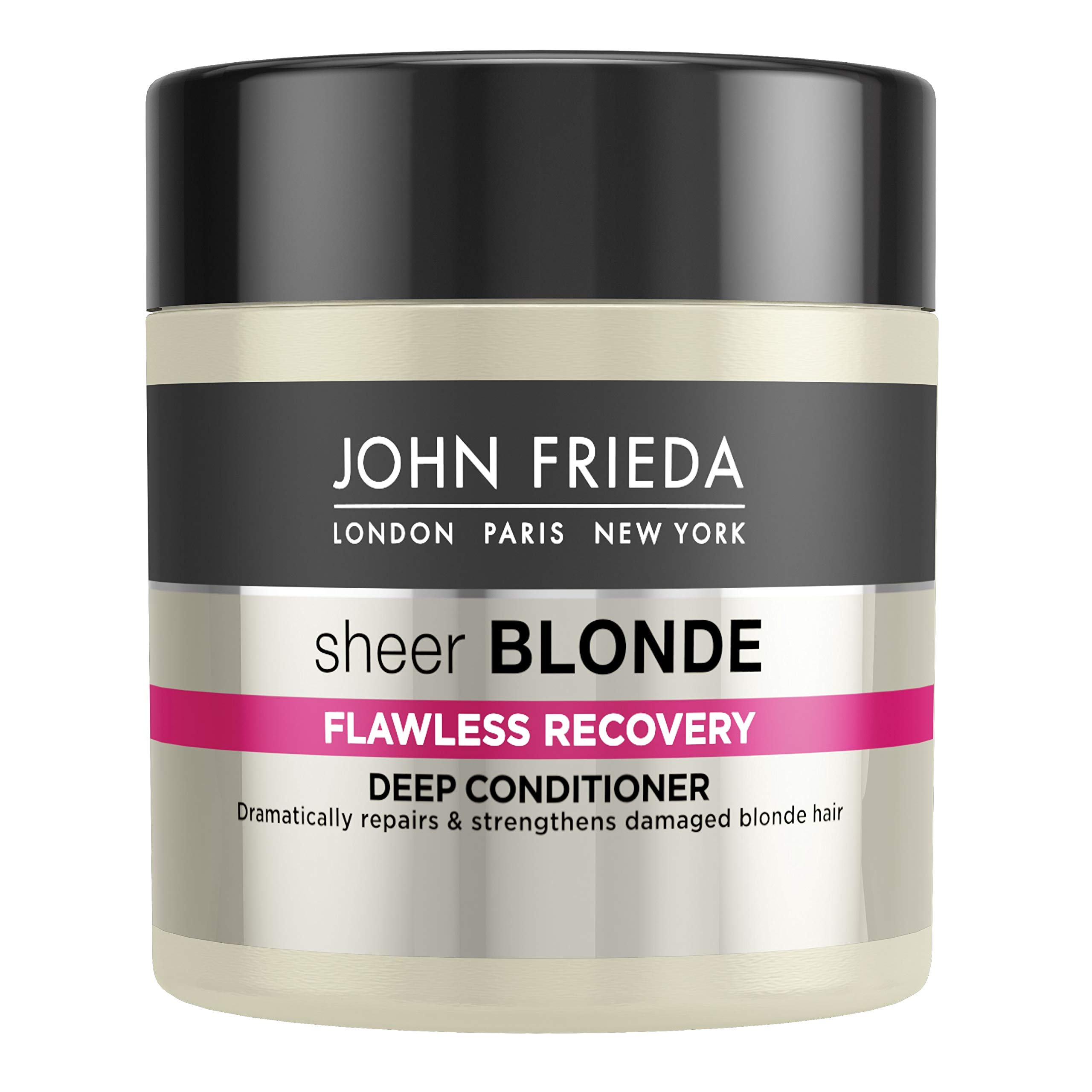 John Frieda Sheer Blonde Flawless Recovery Deep Conditioner Treatment for Dry and Damaged Blonde Hair, 150 ml product image