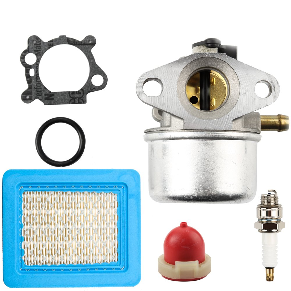Panari Carburetor with Gasket Air Filter Primer Bulb Spark Plug for Briggs & Stratton 14111 498170 497314 Craftsman 625 6150 Engine