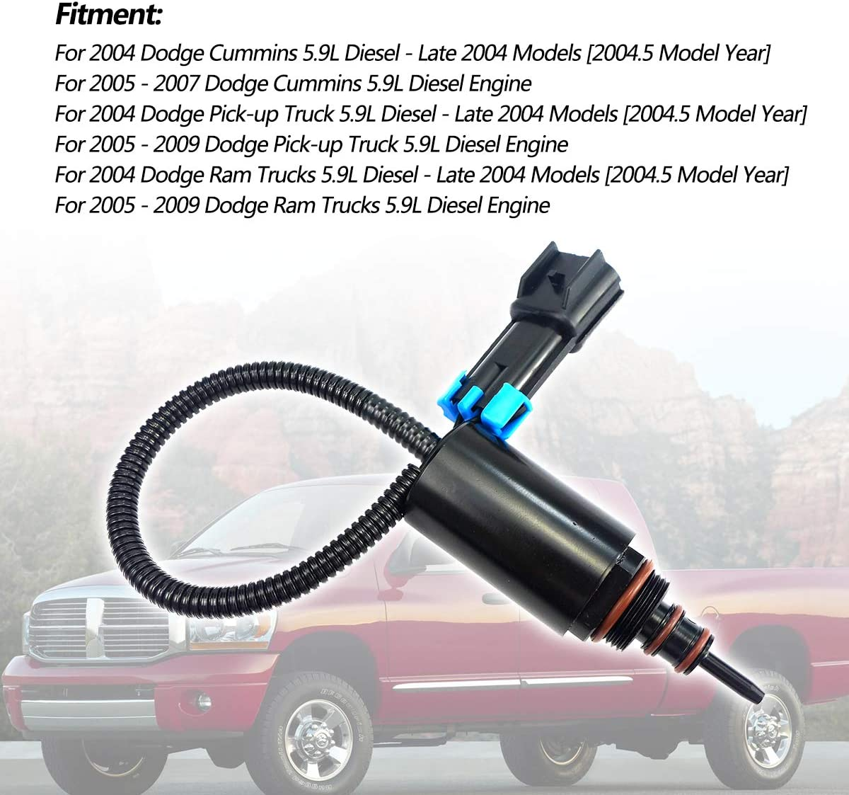 Qnbes Turbo Wastegate Control Solenoid 5140305AA 4036054 Fit for Dodge Ram 2500 3500 Cummins Diesel 5.9L 2004-2009 Turbocharger Wastegate Actuator