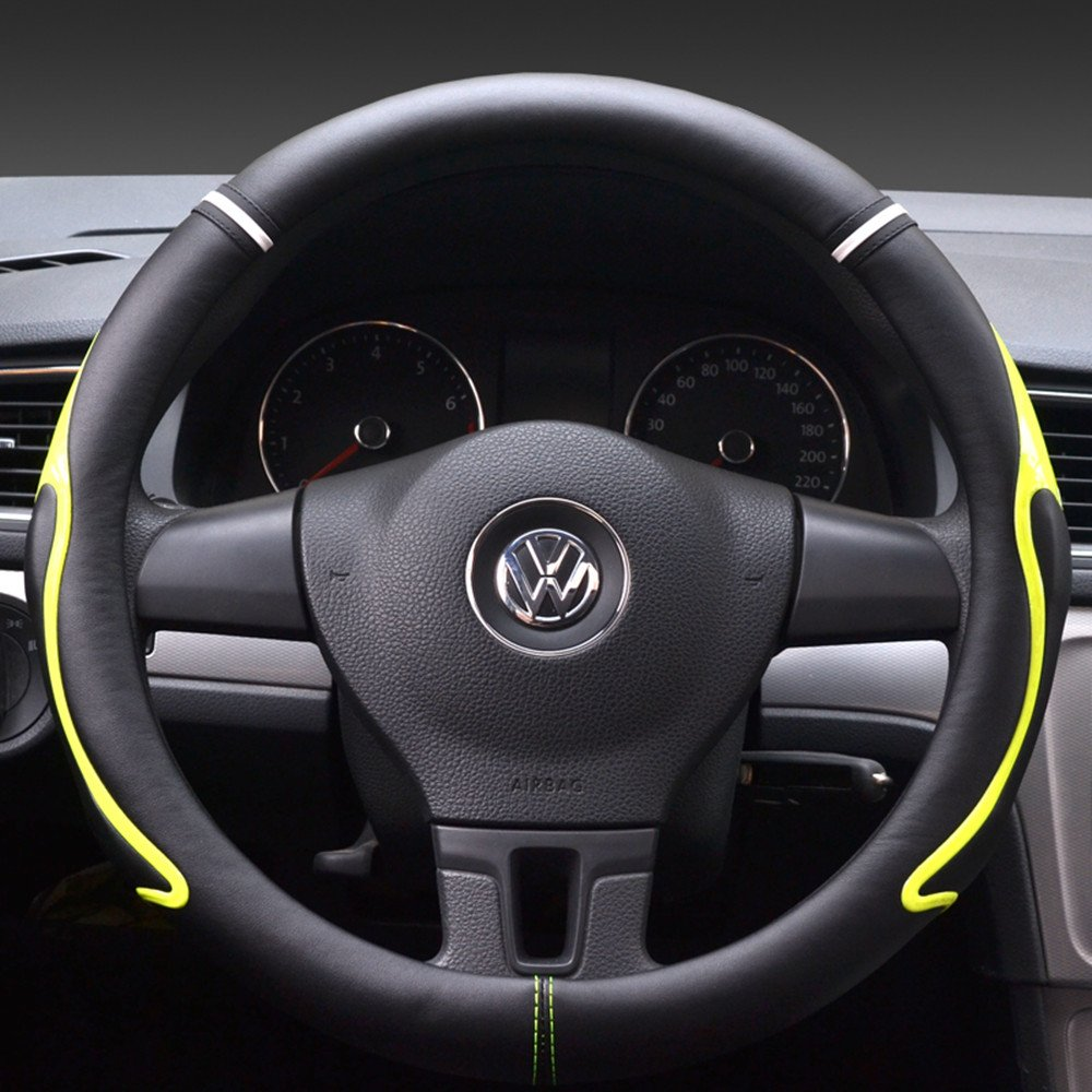 Altopcar Automotive Steering Wheel Cover White, S S Diameter 13.97-14.17 Soft /& Breathable Steering Wheel Wrap Fit for Car Steering Wheel with 36cm-40//13.97-15.74 Diameter Diameter 13.97-14.17