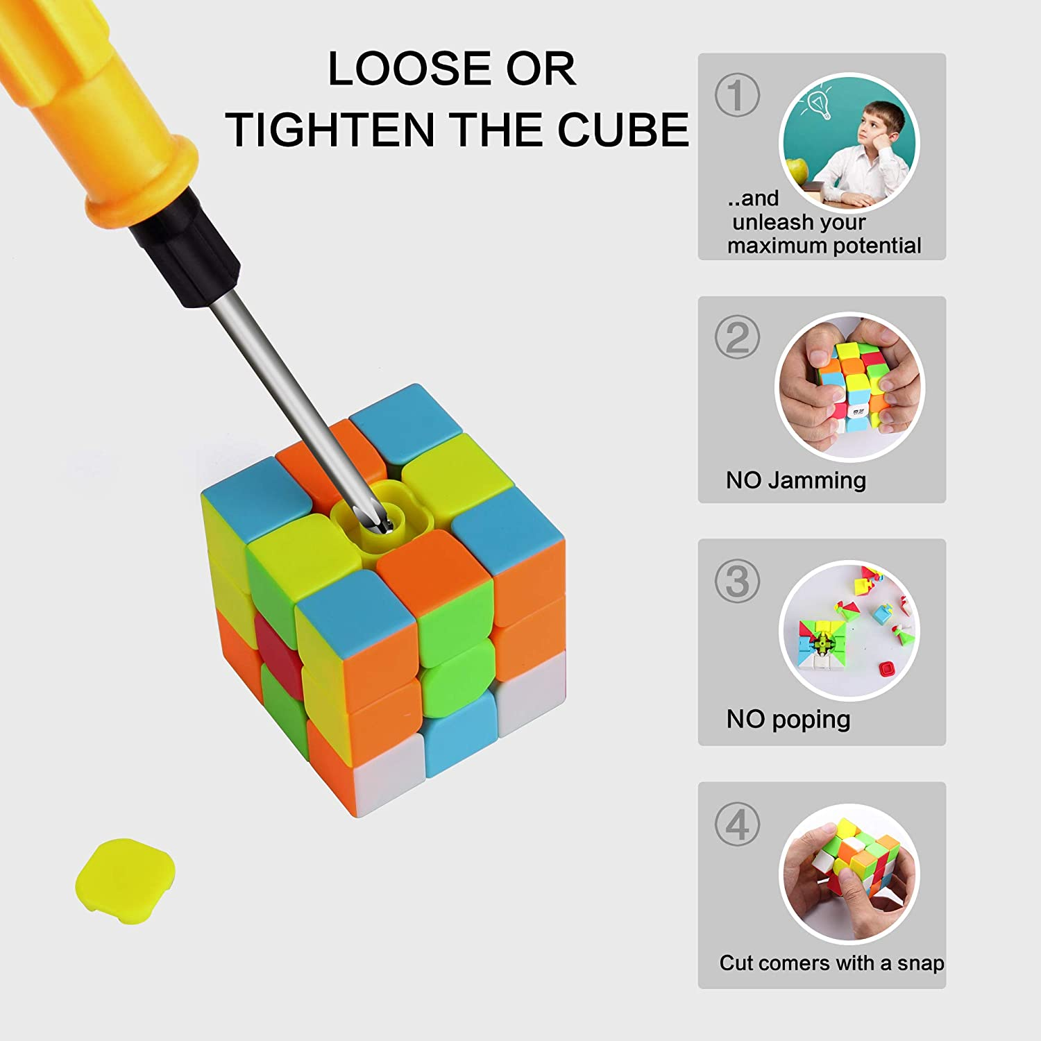 Vdealen Speed Cube Set Professional Magic Cube Set of 2x2x2 3x3x3 Pyramid Puzzle Cube Bundle of Puzzle Toys