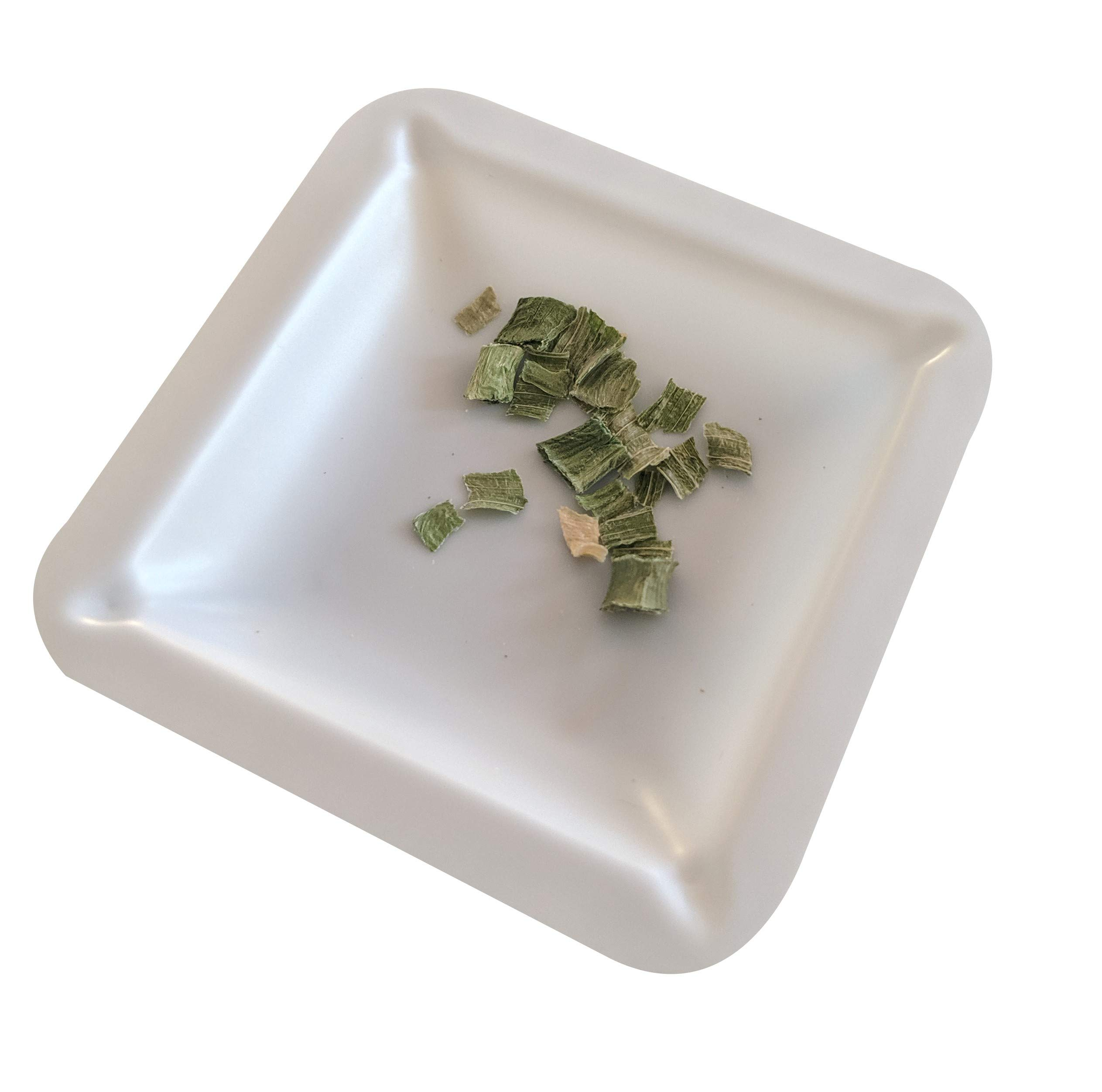 Plastic Square Weigh Boats, Mini Dish (1 3/4 in x 1 3/4 in x 3/8 in) [Pack of 125] by Bartovation