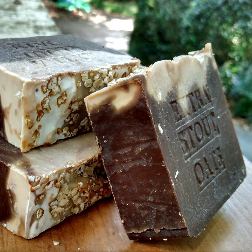 Beer Soap Oatmeal and Stout Beer Soap Bar with Guinness Extra Stout 7 Oz Bar All Natural Handmade !