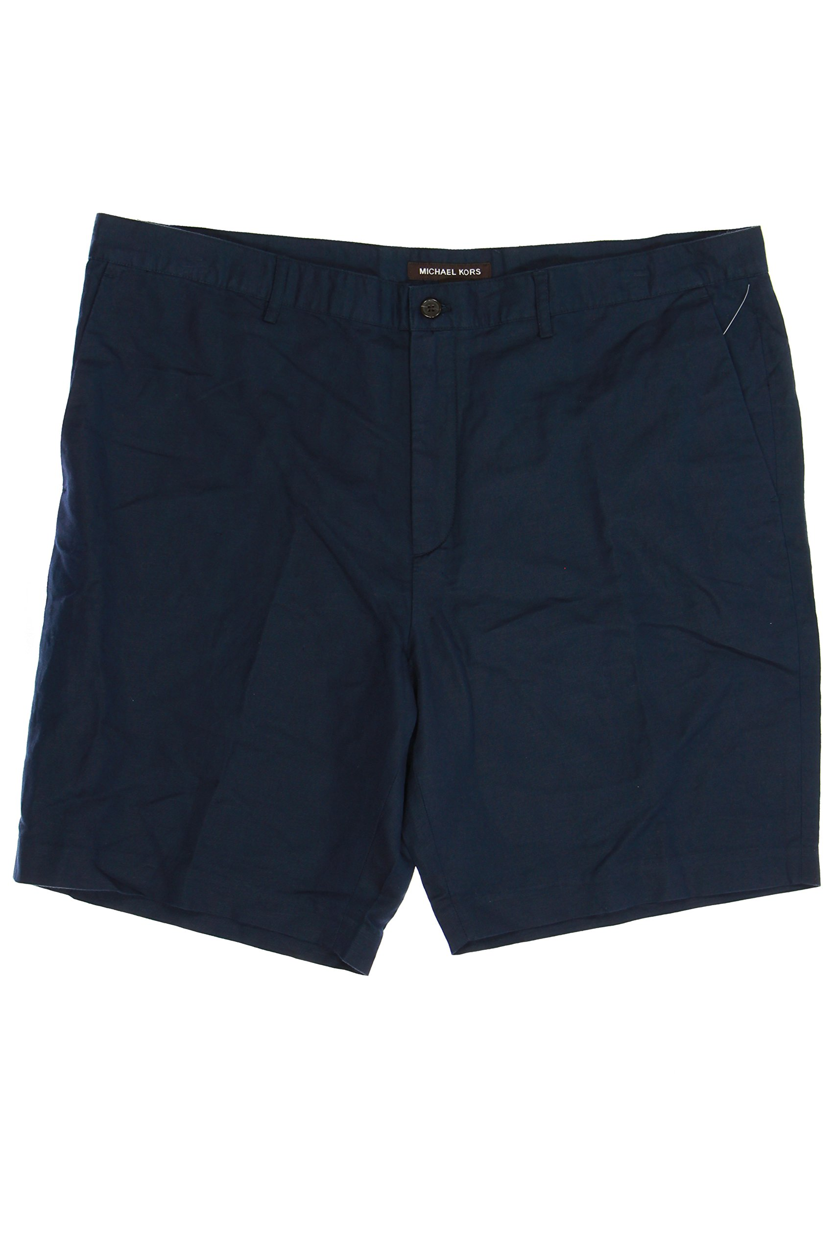 Michael Kors Flat Front Walking Shorts (38, Blue) by Michael Kors