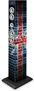 Bigben Interactive TW9UKSTREET Torre 60W Sistema de Audio para el hogar - Microcadena (Torre,, 60 W, De 2 vías, FM, Azul)