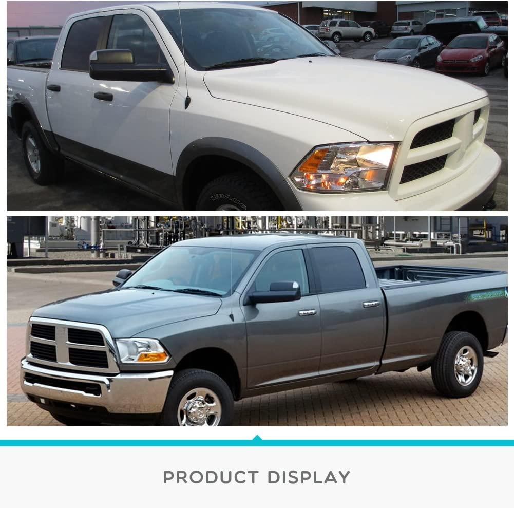 2010-2015 Ram 2500 3500 with Power Heated Led Turn Signal Light Puddle Lamp YITAMOTOR Towing Mirrors Compatible with Dodge Ram 2009-2015 Ram 1500