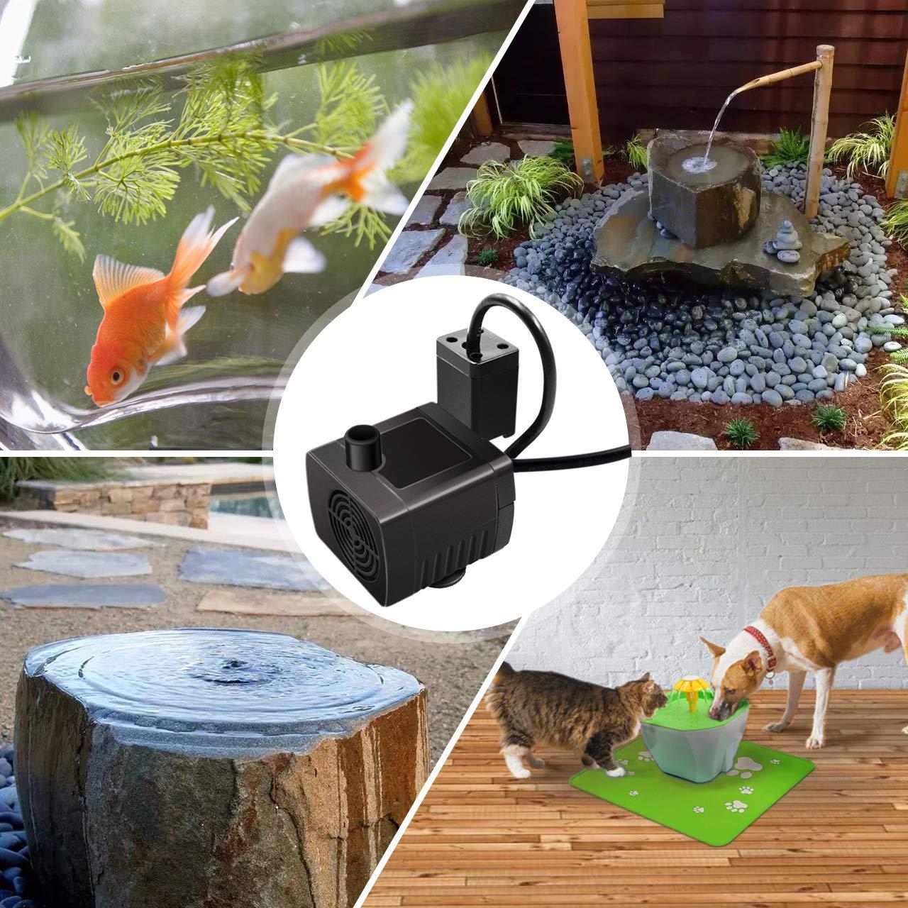 Elevación 120L/H DC 5V USB para Bombas de Agua para Fuentes de Agua Potable: Amazon.es: Productos para mascotas
