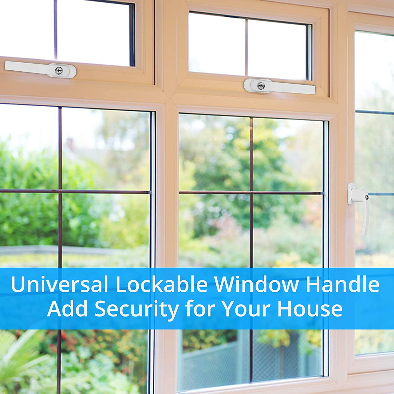 Abschlie/ßbarer Fenstergriff Fenstergriffe 8 St/ück Doppelverglasung 35 mm Spindel Fenstergriffe f/ür UPVC-Fenster Universal-Fenstergriffe