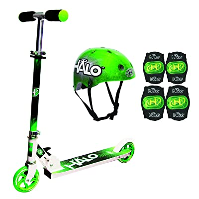 Halo Rise Above Inline Scooter Combo Set (Green): Toys & Games