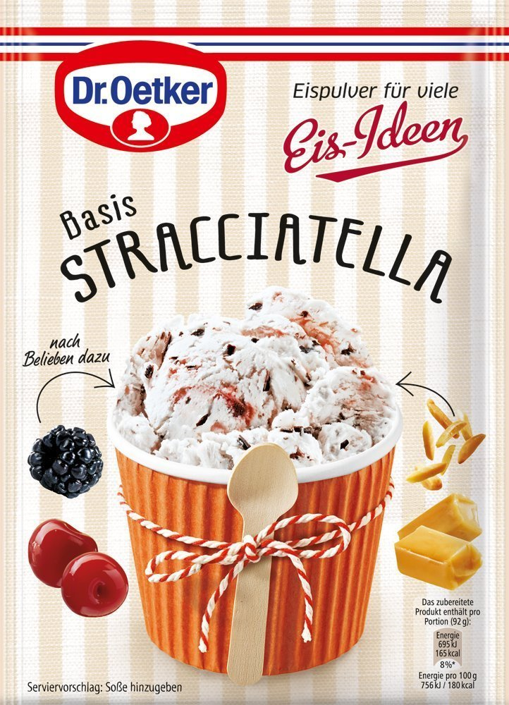 Dr. Oetker ice cream powder Stracciatella, 120 g (2er pack)