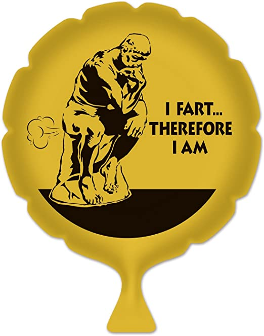 Beistle 54270 I Fart Therefore I am Whoopee Cushion, 8-Inch
