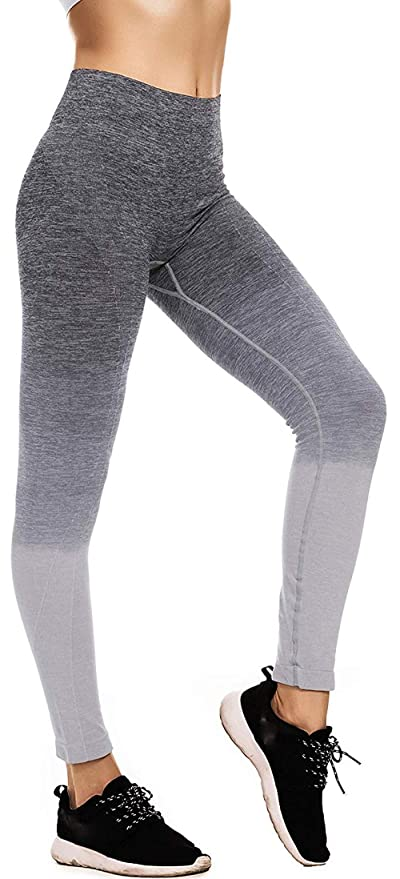 fa916d39aac00 Image Unavailable. Image not available for. Color: Arllison Running Girl  Ombre Yoga Pants Ultrasoft Performance Active Stretch High Waisted Running  Leggings