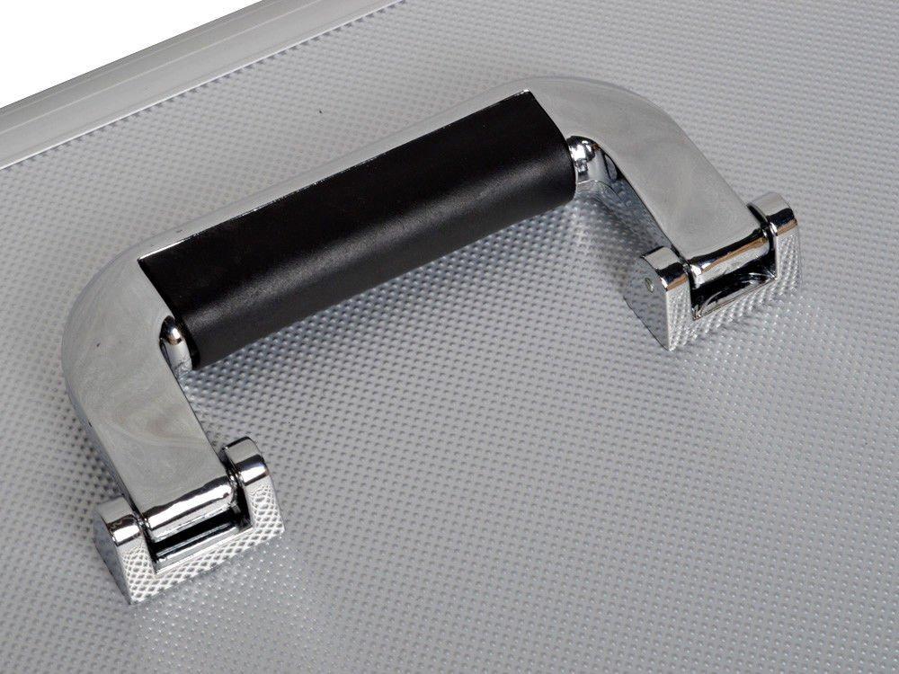 19'' Makeup Aluminum Rolling Cosmetic Train Case Artist Salon Lockable Box Silver By Allgoodsdelight365