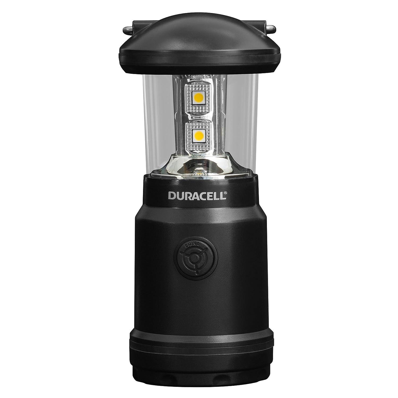 Duracell Taschenlampe, Explorer Lantern Serie Laternen-Taschenlampe, 90 Lumen, LED-Licht, Schwarze Kunststoffbeschichtung, Duracell Batterien im Lieferumfang enthalten (1 Stück) (LNT-20) 884620027797