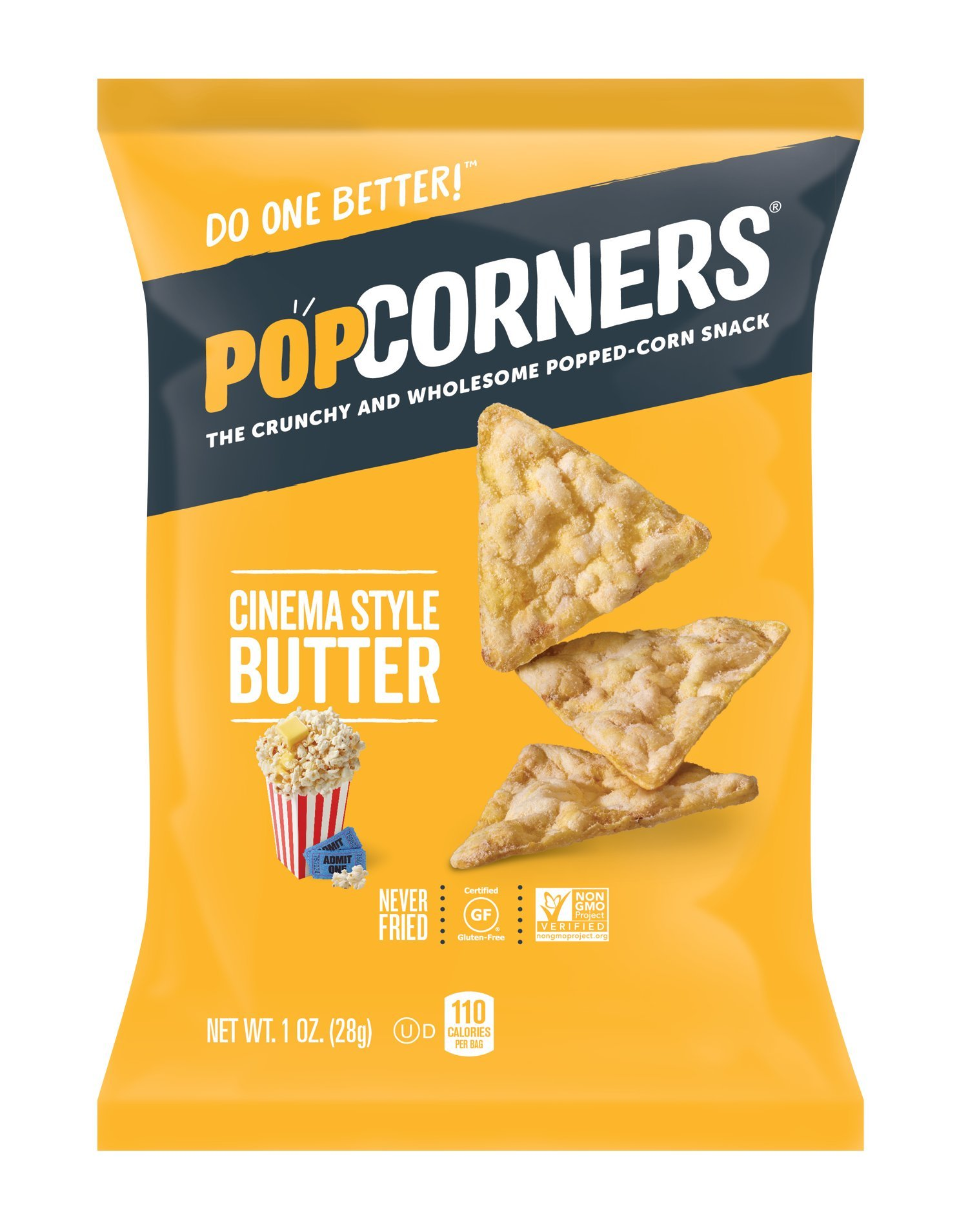 PopCorners Cinema Style Butter Snack Pack | Gluten Free Snack | (40 Pack, 1 oz Snack Bags) by Popcorners