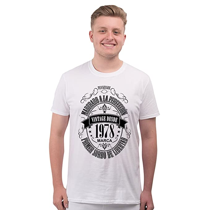 Bang Tidy Clothing Camiseta para Regalo DE 40 cumpleaños para Hombre Matured 1978: Amazon.es: Ropa y accesorios