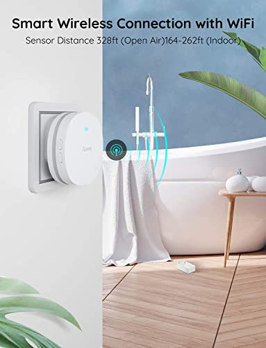Govee WiFi Water Sensor, Smart App Leak and Drip Alert, Wireless Water Alarm with Email, Loud Alarm and App Alerts – Easy to Install Remote Waterproof Leak Sensor for Home, Basement – 3 Pack