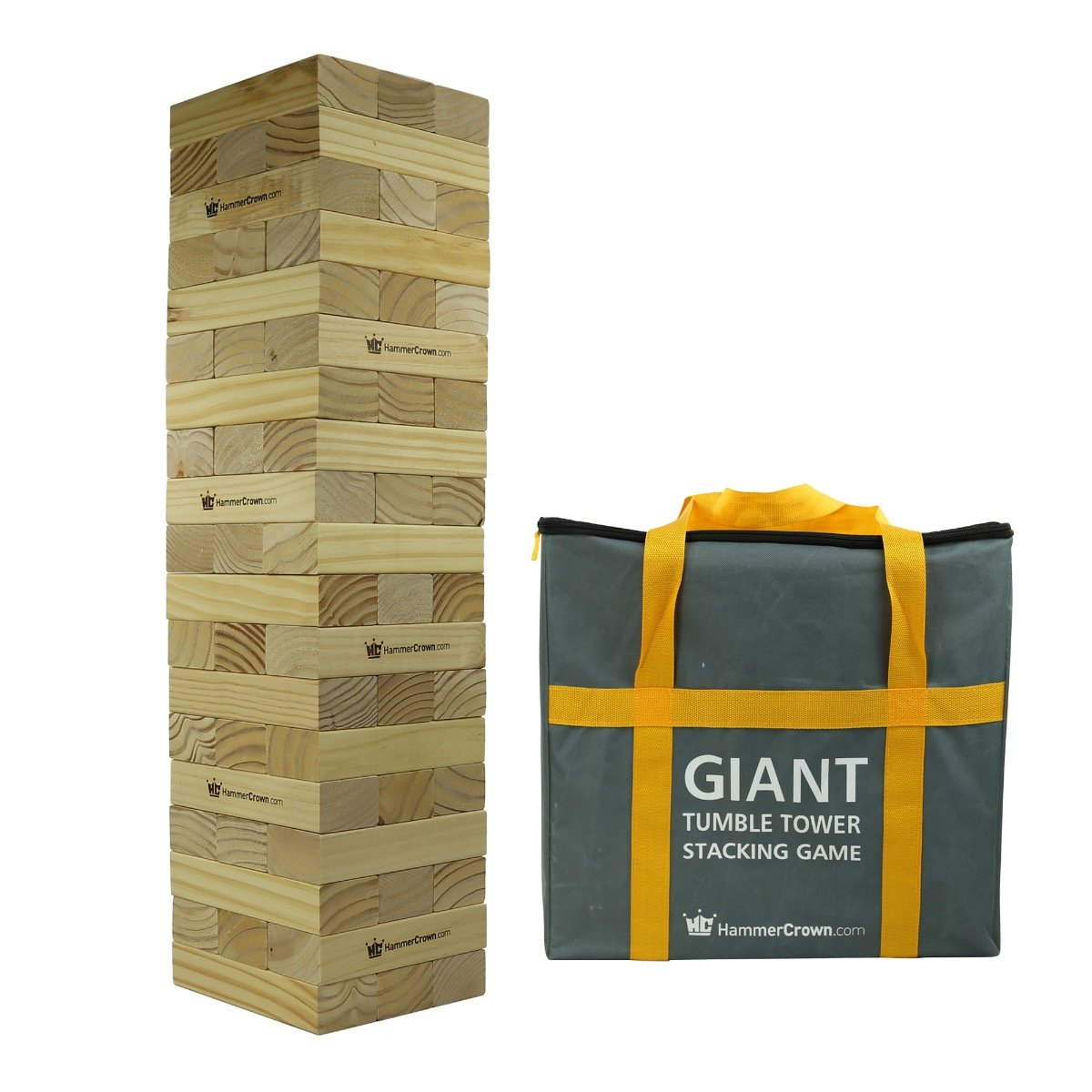 Hammer Crown Giant Tumble Tower; with FREE bonus block bottle opener