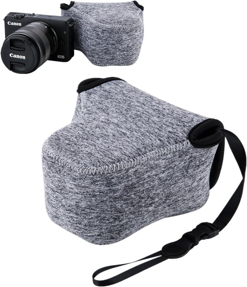 """JJC 4.4""""x2.7""""x4.4"""" Camera Case Pouch for Canon M100 M6 M10 M3 M2 Camera Body+EF-M 15-45mm Lens /11-22mm/18-55mm Lens, for Nikon 1 J5 J4 J3 J2 J1+10-100mm/30-110mm Lens Coolpix L830 L820 L810-Dark Grey"""