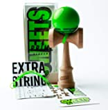 Sweets Kendamas Radar Prime Kendama - Sticky Paint, Perfect for Beginners, Extra String Accessory Bundle