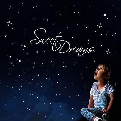 Blue Dream Cielo Stellato Costo.Wandtattoo Loft Scritta Sweet Dreams Realizzato In Bianco Adesivo