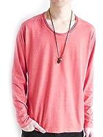 (モノマート) MONO-MART ツインロール Uネック カットソー L/S 長袖 ゆる 着心地 MODE Tシャツ デザイナーズ 爽やか メンズ