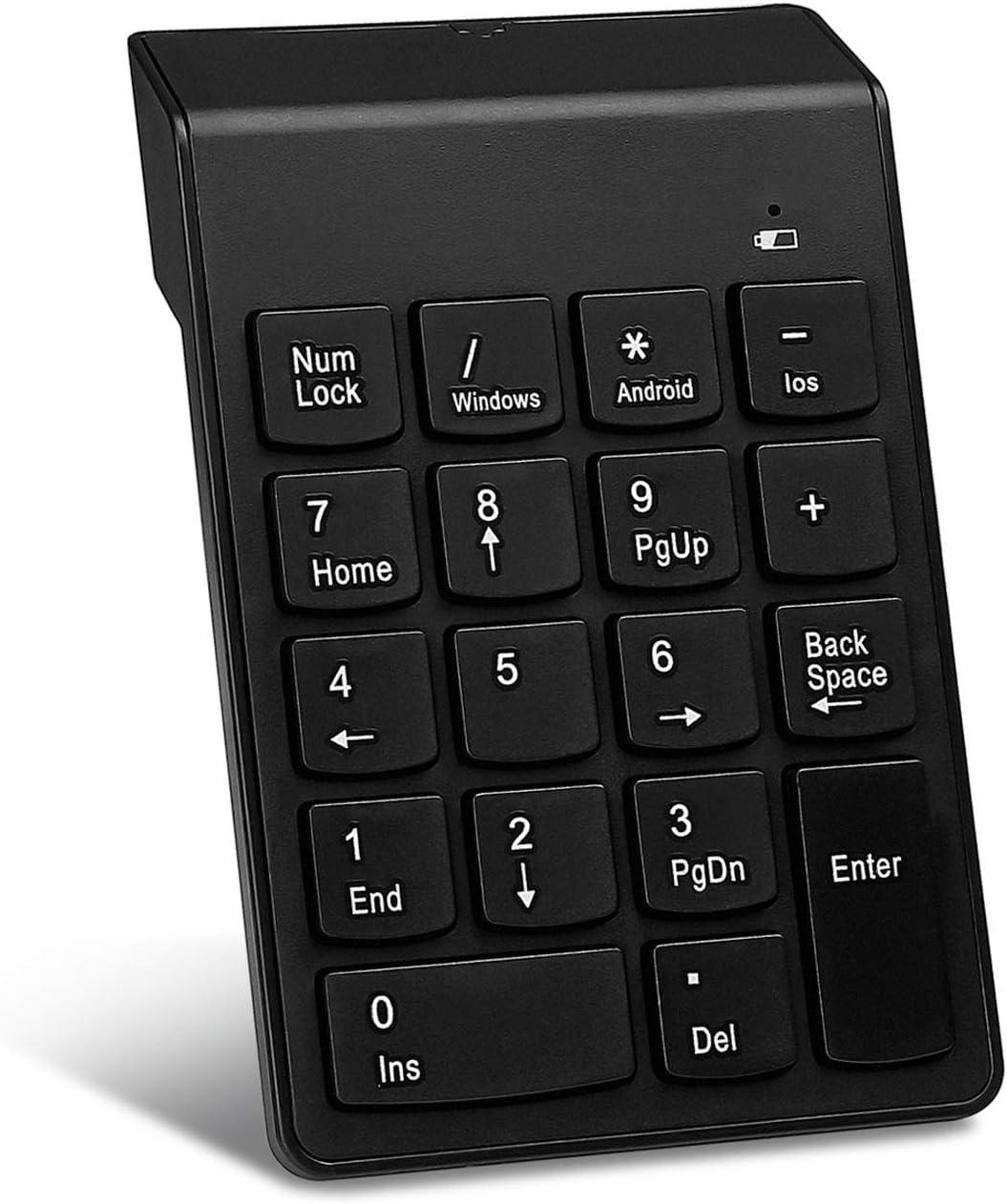 Bluetooth Numeric Keypad Cimetech Wireless Slim 18 Keys Multi-Function Numeric Keypad Keyboard Extensions for Laptop/Desktop/PCs/Notebook