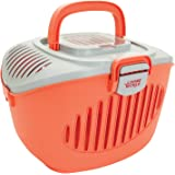 Living World 60899 Paws2Go Small Animal Carrier, Grey/Red