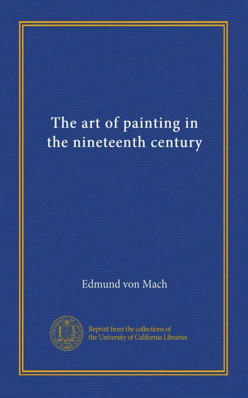Download The art of painting in the nineteenth century (Vol-1) PDF