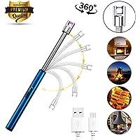 Sunshine smile Encendedor 360°,Encendedor Eléctrico,Encendedor Cocina,Encendedor USB,mechero Encendedor,Encendedor