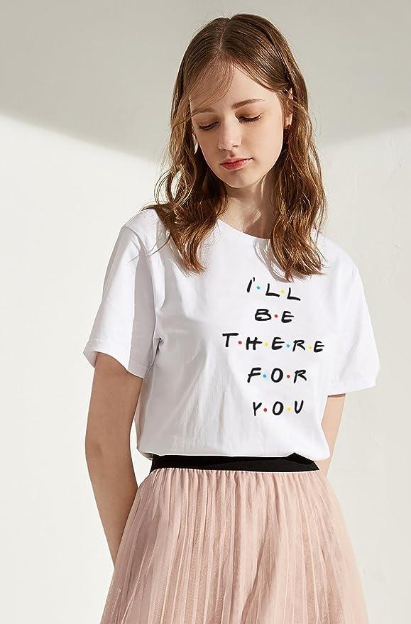 Camiseta TV Show Best Friend Logo Shirt Mejor Amiga para Mujer Manga Corta T-Shirt Regalo de Cumpleaños Blanco Negro Verano Blusa Causal: Amazon.es: Ropa y ...