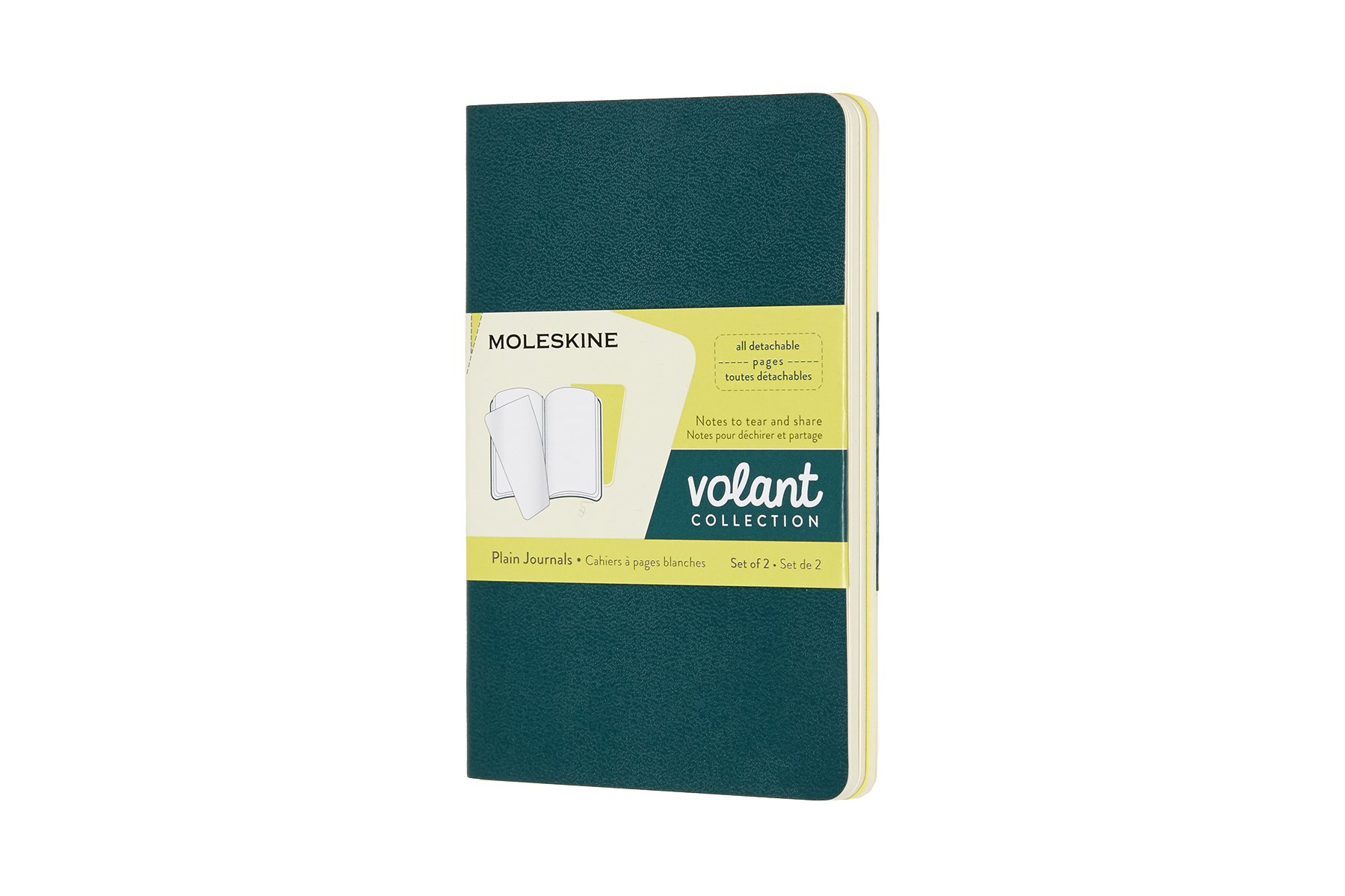 Moleskine Volant Soft Cover Journal, Set of 2, Plain, Pocket