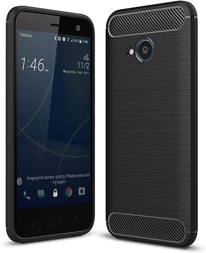 Funda® Tecnología de cepillo con textura Anti Scratch & Anti Fingerprint TPU Soft Funda para HTC U11 Life (Negro): Amazon.es: Electrónica