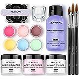Morovan Acrylic Nail Kit Acrylic Powder with Professional Liquid Monomer For Nail Extension Acrylic Nail Brush Nail Art…