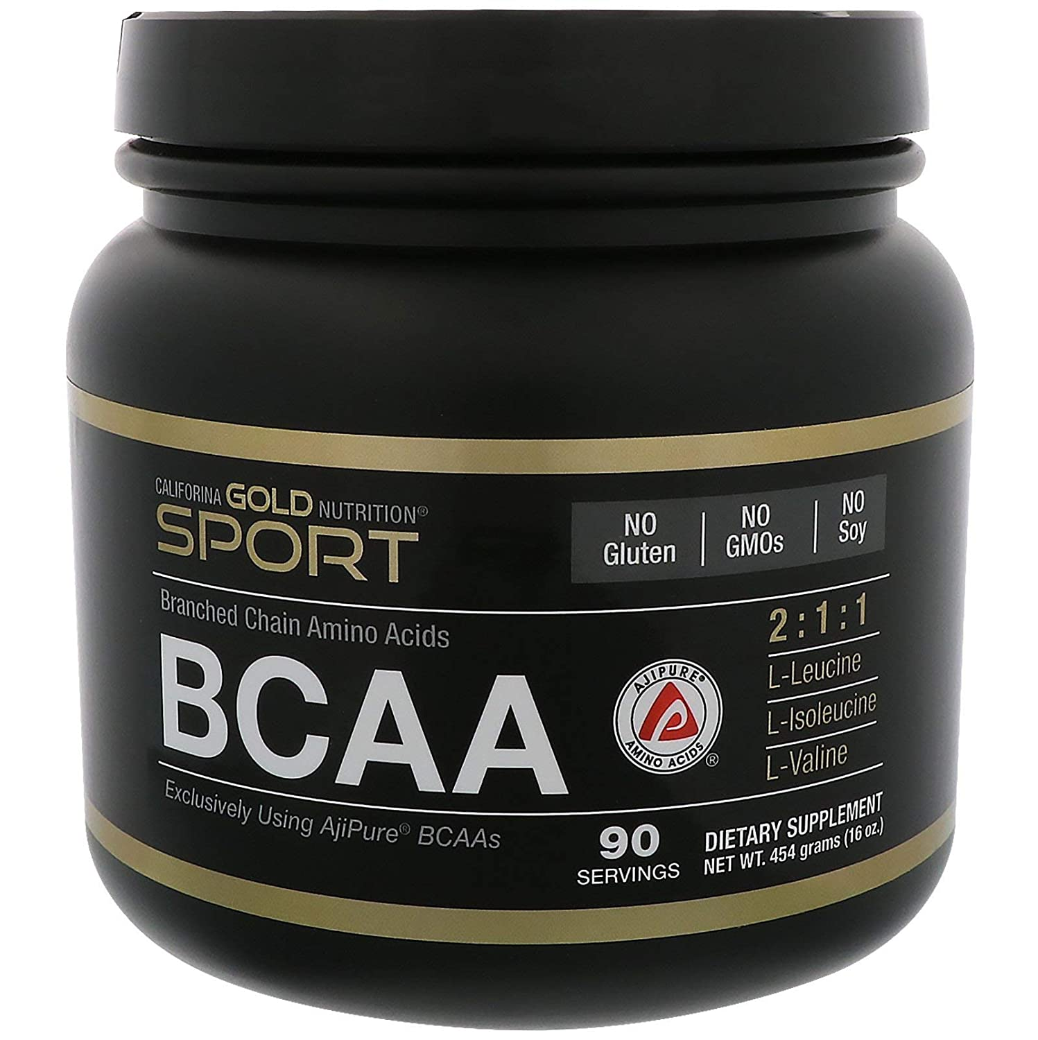 California Gold Nutrition, BCAA, AjiPure, Branched Chain Amino Acids Powder, 16 oz 454 g , Milk-Free, Egg-Free, Fish Free, Gluten-Free, Shellfish Free, Soy-Free, Sugar-Free, Wheat-Free, CGN
