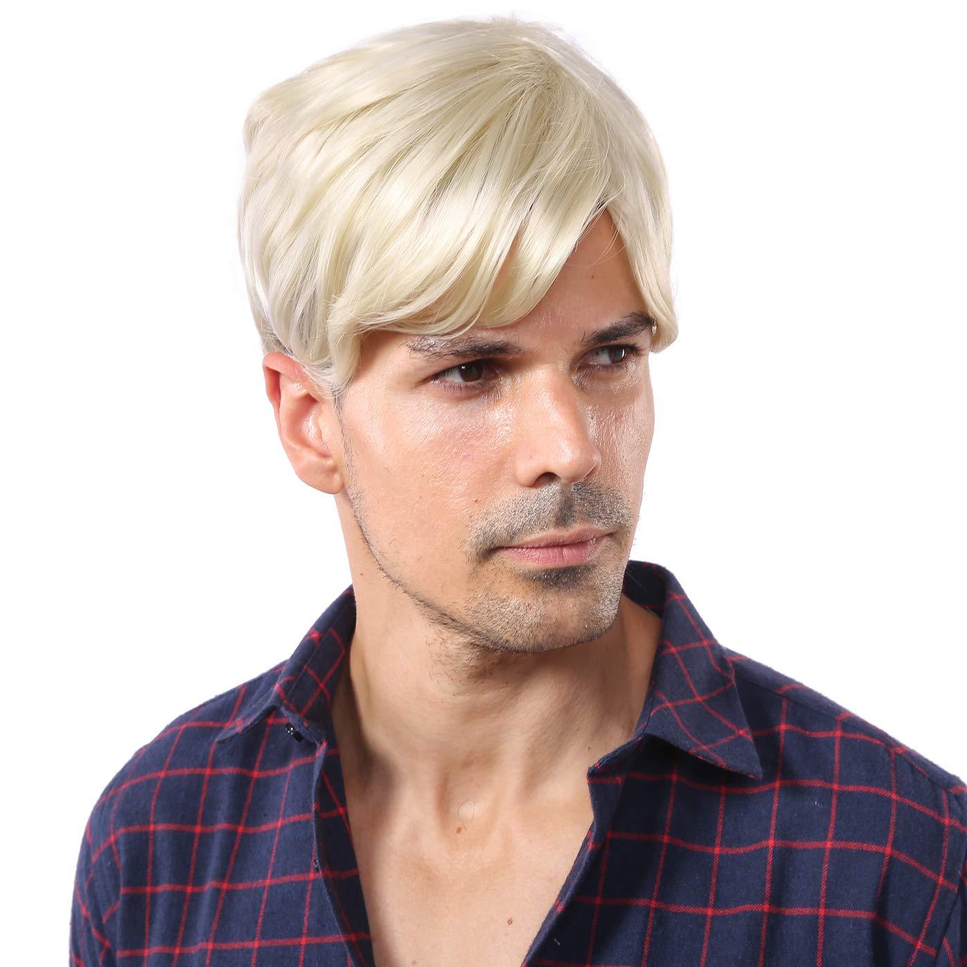 Blonde Short Wigs for Men Halloween Wig Trump