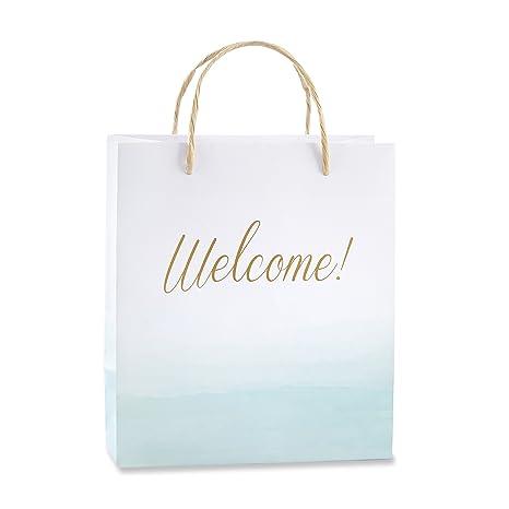Amazon.com: Kate Aspen playa Tides Bolsa de bienvenida (12 ...