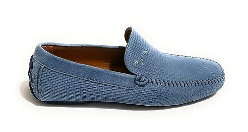 Harmont & Blaine Mocasines de Ante Para Hombre Azul Jeans Azul Size: 39 EU