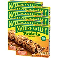 Nature Valley Chewy Granola Bar, Protein, Peanut Butter Dark Chocolate, 5 Bars-1.42 Ounce each, 7.1 Ounce (Pack of 6)